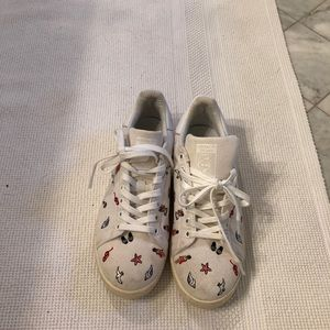 Adidas Stan Smith's with Embroidered figures